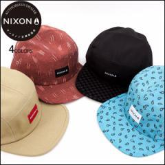NIXON ニクソン 帽子 キャップ ストラップバック ハット メンズ レディース TIDE 5 PANEL HAT ブラック レッド 正規販売店