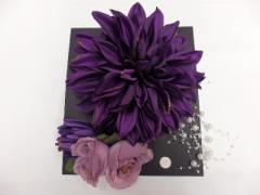 成人式/結婚式/パーティ●○頭飾り○●紫地の花no3