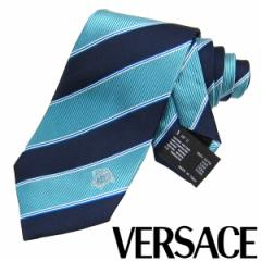 VERSACE ヴェルサーチ ネクタイ 新柄 メンズ 紳士 (25) 定価18360円 CR8LSEB0573 0009