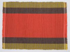フィリピン Ilocos 地方伝統 手織り ランチョンマット 2枚組 レッド ベージュ