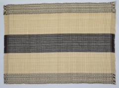 フィリピン Ilocos 地方伝統 手織り ランチョンマット 2枚組 ブラウン