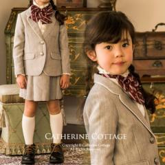 【入学式 女の子 スーツ】パイピングスーツ ジャケット・スカート2点セット 110 120 130  MA301