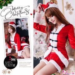 [即納]サンタ コスプレ サンタコス コスチューム サンタ衣装 セクシー 定番 セットアップ クリスマス 2016 サンタクロース 個性 赤
