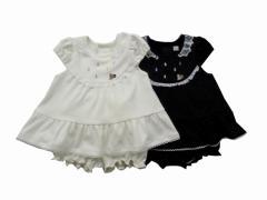 40%OFF Pample Mousse(パンプルムース) 日本製 秋物 ベビー服 女の子 ブライトスムースジャガード ミルキースーツ 90