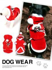 犬服サンタクロースパーカードッグウェア/ペット用品 わんちゃん ペットウェア ペットグッズ トイプードル ベロア