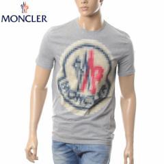 MONCLER モンクレール Tシャツ メンズ 半袖 クルーネック 8007450 83060 グレー
