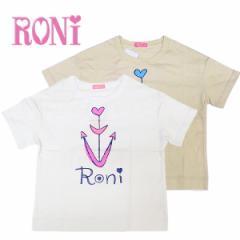RONI ロニィ 子供服 17春 天竺ドロップショルダーゆるTシャツ r137123030-1005