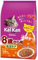 【マースジャパン】カルカンドライ 8歳から用 毛玉ケア かつおとチキン味 1.6kgx6個(ケース販売)