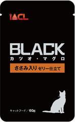 激安特売中【イトウ&カンパニー】BLACKパウチ カツオ・マグロ ささみ入り ゼリー仕立て 60g