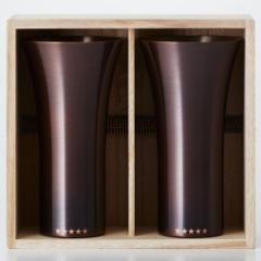送料無料 WDH 純銅製 タンブラー 2個セット ブラ...