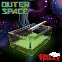 【RELAX/リラックス】暗闇で光る灰皿 OUTER SPACE/アウタースペース ガラスアッシュトレイ 蓄光 ガラス 小物入れ