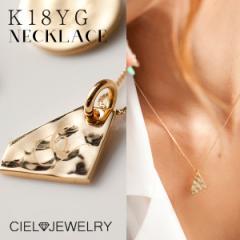 18k 18金 ダイヤモンド型 イニシャル レディース ネックレス 送料無料 / アクセ・ジュエリー 18gold