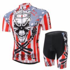 2点セット 半袖 自転車ウェア 上下セット 半袖 Tシャツ 自転車用ジャージ パンツ サイクルウエア メンズ 男性用 夏秋 通気 薄手