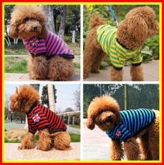 春夏用犬服 人気ボーダーTシャツ 犬服 わんちゃん服 お値打ち犬服 おしゃれな犬服