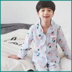 子供服 キッズ 子供 ルームウェア 寝巻き 上下セット 長袖 部屋着 シンプル かわいい パジャマ  kd1692