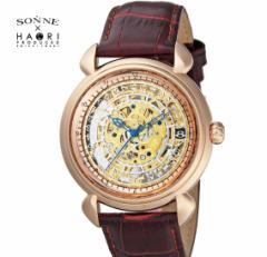 ゾンネ × ハオリ SONNE HAORI PRODUCED H009PG メンズ 腕時計  自動巻き リストウォッチ 岩城滉一