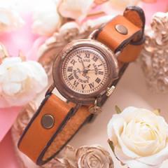 腕時計 ウォッチ 刻印無料 革 レザー 送料無料 ハンドメイド レディース ウォッチ アンティーク ブランドTHE LOVE four/20,160円