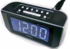 【送料無料】LANDEX AM/FMラジオ付アラームクロック スクラッチneo YT5231SV 常時点灯 LEDデジタル時計
