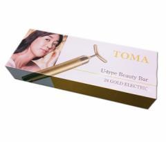 【送料無料】TOMA 24金U型電子美容器 U-type Beauty Bar Uタイプ ビューティーバー 【日本製/正規品】