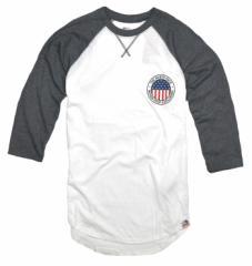 ノースフェイス メンズ Tシャツ 七分袖 ラグラン アウトレットTHE NORTH FACE nf0a2zllpky-white