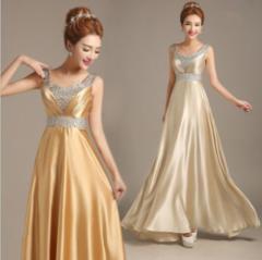 高品質★ロングドレス パーティードレス  舞台ドレス ナイトドレス  ワンピース 大きいサイズ♪二次会 発表会 演奏会 全7色 D035