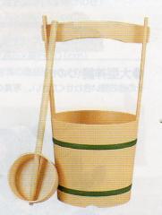 神道専科:神具(内祭用) NO.388 ●手桶 セットPC(ひしゃく付) 税抜¥4800円