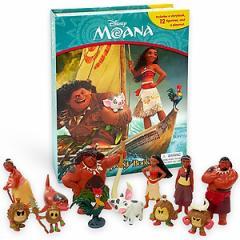 (英語版)海外書籍 「Disney Moana My Busy Book(ディズニー モアナと伝説の海 マイ ビジーブック)」(本+ミニフィギュア12種)