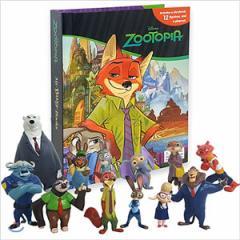 海外書籍 「Disney Zootopia My Busy Book : Zootropolis(ディズニー ズートピア マイ ビジーブック)」(本+ミニフィギュア12種)