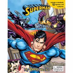 (英語版)海外書籍 「Superman My Busy Book(スーパーマン マイ ビジーブック)」 (本+ミニフィギュア12種)