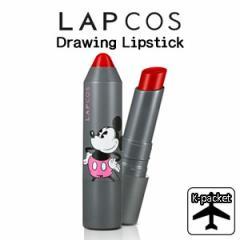 【代引き不可、韓国直送】 韓国コスメ <LAPCOS X Disney> Drawing Lipstick (ディズニー ドローイング リップスティック/全5色1択)