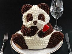 マイルストーン パンダ3Dケーキ  送料無料 誕生日 プレゼント 母の日 結婚式 ギフト お祝い クリスマスケーキ 立体ケーキ パンダ