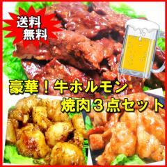 【送料無料】豪華☆牛ホルモン焼肉3点セット バ...