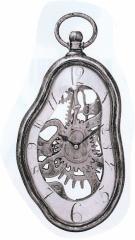 メルティングクロック 掛け時計タイプ アンティークシルバー (54444) ダリっぽい掛時計
