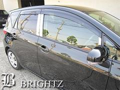 BRIGHTZ トレジア 120 125 超鏡面ステンレスメッキピラーパネル バイザー有り用 10PC【YOT-LL-BP9】サイド ドア 窓 柱 カバー