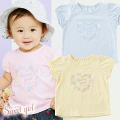 *スウィートガール* シェル柄半袖Tシャツ 出産お祝い ギフト 赤ちゃん 服 ベビー服 Tシャツ 半袖 女の子