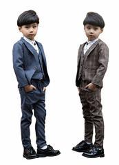 フォーマル スーツ 男の子 キッズ 長袖ジャケットコート&長ズボン ベスト男の子 スーツ子供 タキシード/フォーマル 子供服フォーマル