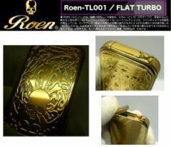 送料250円〜ROEN(ロエン)ターボライター001GD(新色 ゴールド*鏡面ミラー)スカル 再注入式