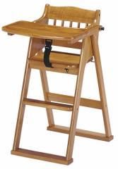 送料無料◆折畳ができて組立不要 チャイルドチェア ブラウン茶色 (赤ちゃん/幼児用/子供用イス/椅子) 【家具】 CHC-480