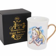 ◆ふしぎの国のアリス ゴールドプレミアム マグ(プレゼント、贈り物、お土産,キャラクターグッツ通販、