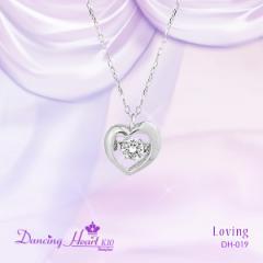"""クロスフォー """"Loving"""" 揺れるダイヤ K10ホワイトゴールド ネックレス 送料無料"""