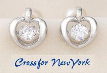 クロスフォーニューヨーク 人気ピアス「Twinkle Heart」NYE-103 シルバー925 送料無料