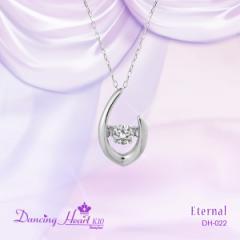 """クロスフォー """"Eternal"""" 揺れるダイヤ K10ホワイトゴールド ネックレス 送料無料 ハロウィンプレゼントにどうぞ"""