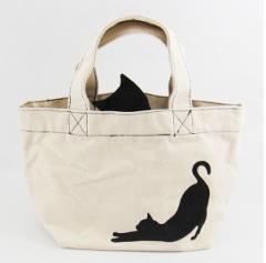 送料無料 Abeille ねこ型 ミニトートバッグ ネコ B /ねこ/ネコ/猫/グッヅ