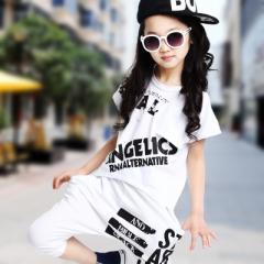 【即納】 ≪SALE≫  子供服 キッズ セットアップ 男女兼用 Tシャツ サルエルパンツ ハーフパンツ