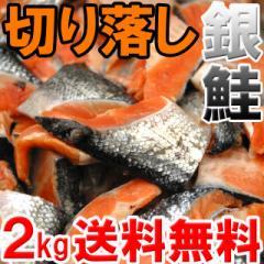 【送料無料】お弁当サイズ♪肉厚ふっくら銀鮭切り落し2kg(setw)離島・沖縄配送不可
