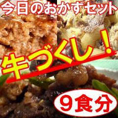 【送料無料】無添加!「今日のおかず」シリーズ【牛づくしお惣菜】9食入りセット(mei)