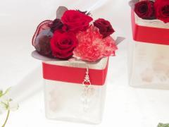 【送料無料】プリザーブドフラワー☆手作りガラスの器アレンジ小|ギフト|プレゼントにも♪