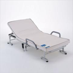 収納式 電動リクライニングベッド AX-BE556■介護ベッド 折り畳みベッド 収納ベッド 自動リクライニングベッド