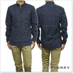 【セール 40%OFF!】BURBERRY バーバリー メンズ長袖ドットシャツ 3996785 ネイビー