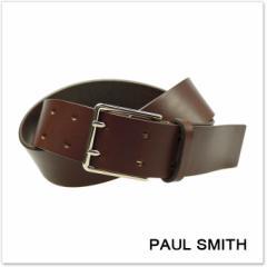 【セール!】(ポールスミス)PAUL SMITH ユニセックスレザーベルト APXA 4747 B652 ブラウン